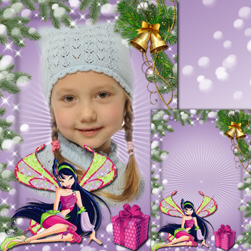 Kid's Photoframe with Musa - Winx Happy New Year