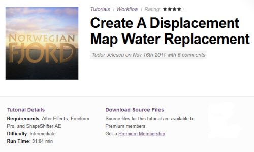 AE Tuts+ Create A Displacement Map Water Replacement