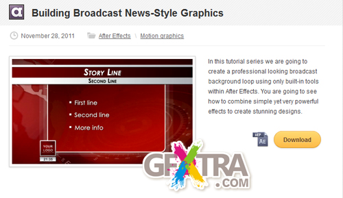 AE Tuts+ Building Broadcast News-Style Graphics