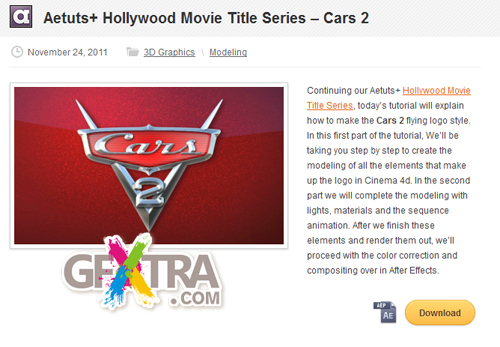 Aetuts+ Hollywood Movie Title Series – Cars 2