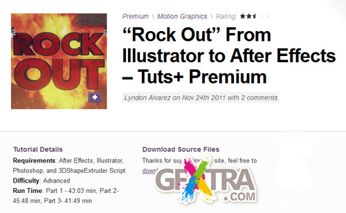 "AE Tuts+ ""Rock Out"" From Illustrator to After Effects"