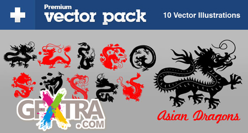 Vector Tuts+ Vector Pack - Asian Dragons