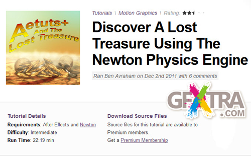 AE Tuts+ Discover A Lost Treasure Using The Newton Physics Engine