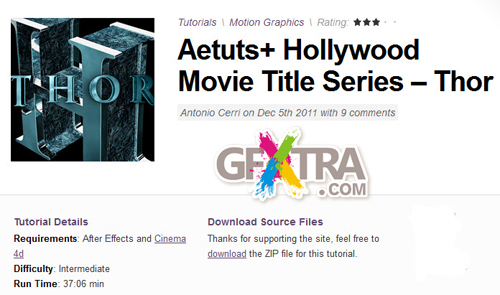 Aetuts+ Hollywood Movie Title Series – Thor