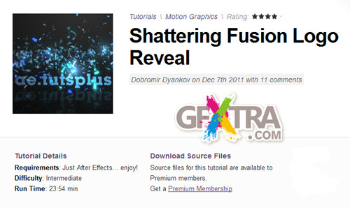 AE Tuts+ Shattering Fusion Logo Reveal