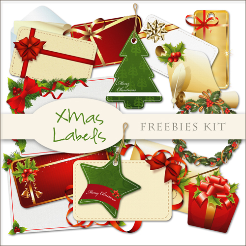 Scrap-kit - Christmas And New Year 2012 Decor Images Cliparts Mix 6 - Labels Kit