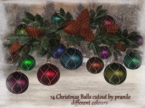 PNG Cliparts - Balls For Christmas And New Year 2012 - Cutout Stock - 2