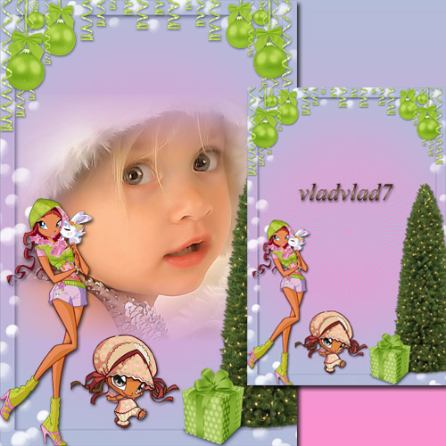 Kid's Photoframe with Layla - Winx Happy New Year