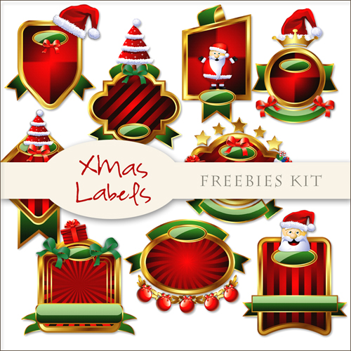 Scrap-kit - Christmas And New Year 2012 Red Labels #3