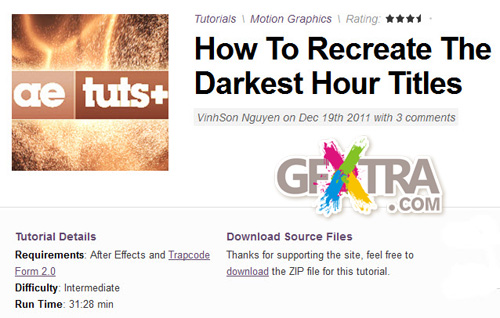 AE Tuts+ How To Recreate The Darkest Hour Titles