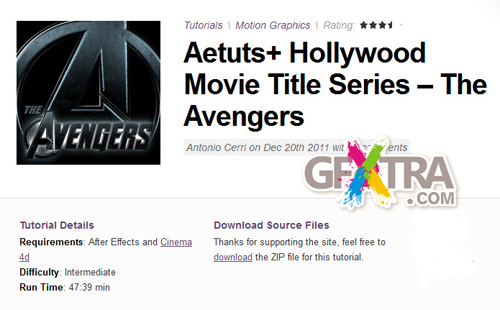 AE Tuts+ Hollywood Movie Title Series – The Avengers