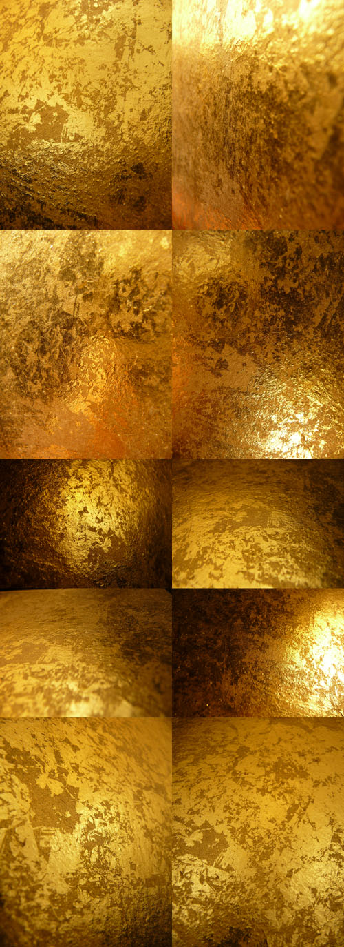 Gold Metal Backgrounds 2011 Mix - Vintage Style