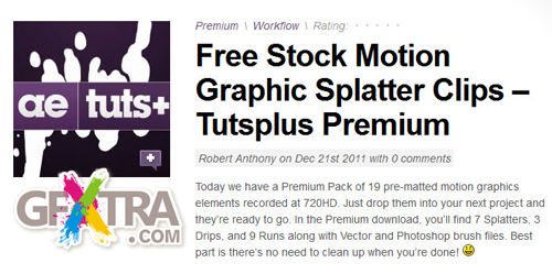 Free Stock Motion Graphic Splatter Clips – Tutsplus Premium