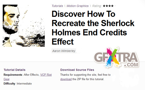 AE Tuts+ Discover How To Recreate the Sherlock Holmes End Credits Effect