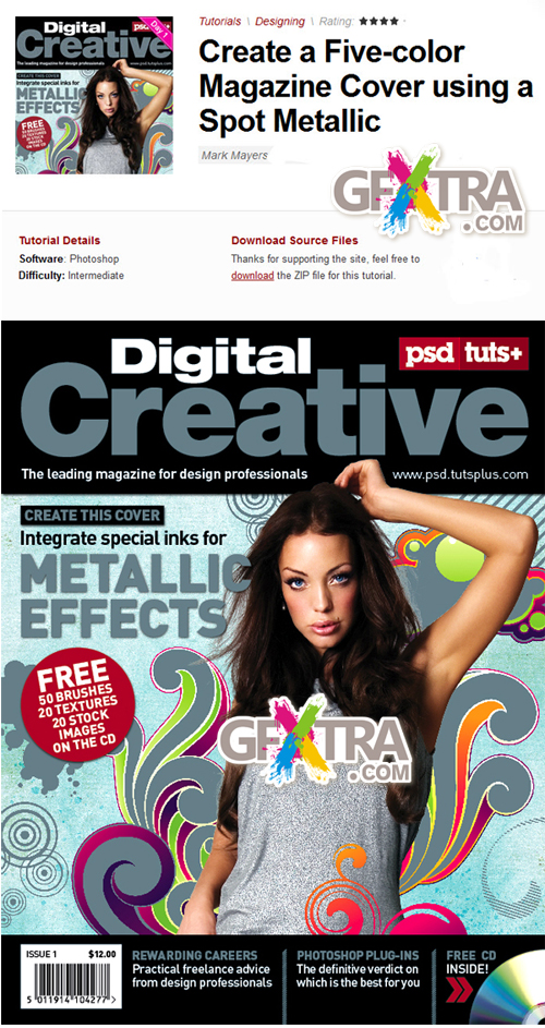 PSD Tuts+ Create a Five-color Magazine Cover using a Spot Metallic