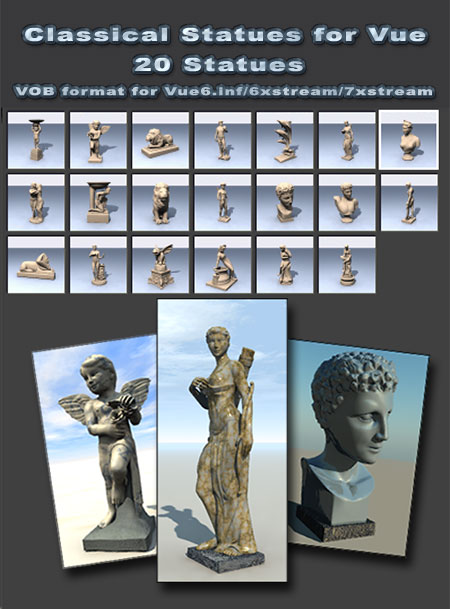 Classical Statues for Vue
