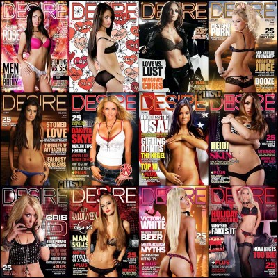 Desire Magazine - Full Year 2011 Issues Collection