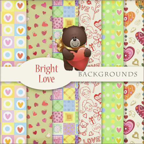 New 2012 Childrens Backgrounds - Bright Love