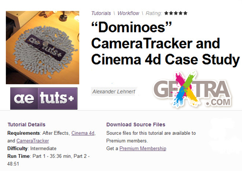 "AE Tuts+ ""Dominoes"" CameraTracker and Cinema 4d Case Study"