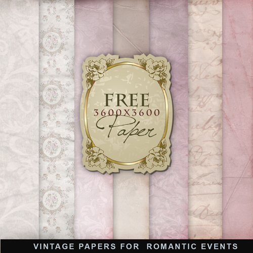 Textures - Old Vintage Backgrounds #64 - Pink Color Papers 2012 vol.2