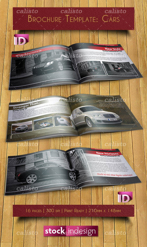 InDesign Brochure Template: Cars