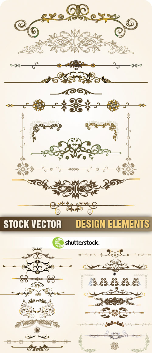Stock Vector - Design Elements, 3xEPS