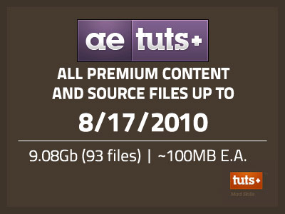 AE Tuts+ SiteRip Up To 8/17/2010