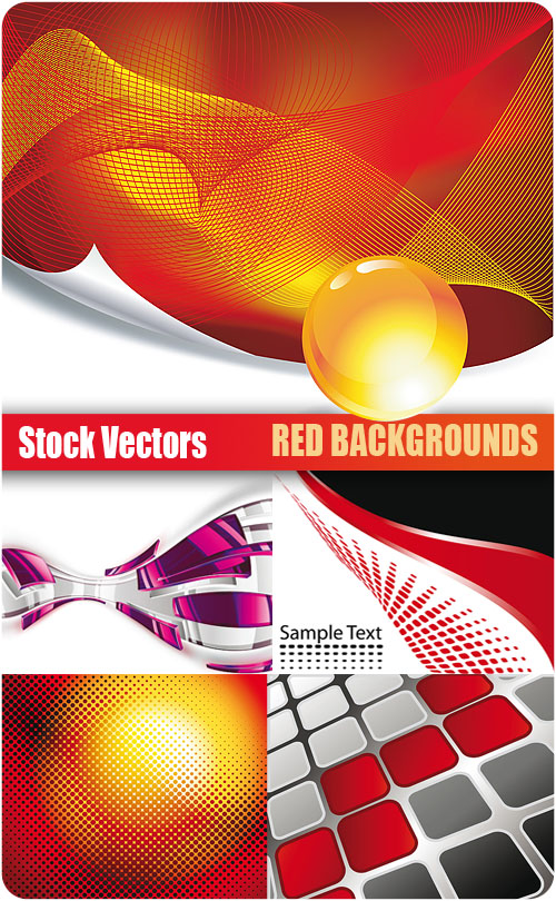 Stock Vectors - Red Background