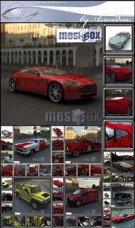 3D Cars from MeshBox by Asmodeus