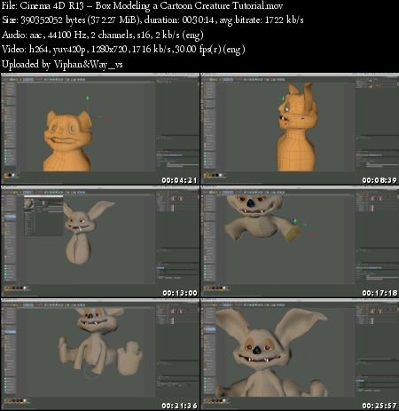 Cinema 4D R13 – Box Modeling a Cartoon Creature Tutorial » GFxtra