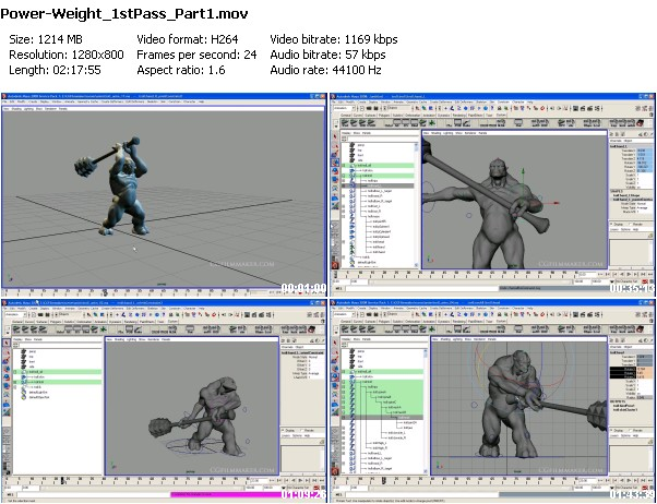 Jeff Lew : Animating Power and Weight: First Pass