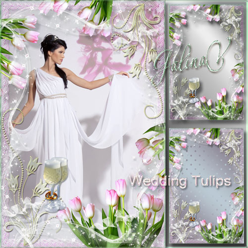 Romantic Frame - Wedding Tulips
