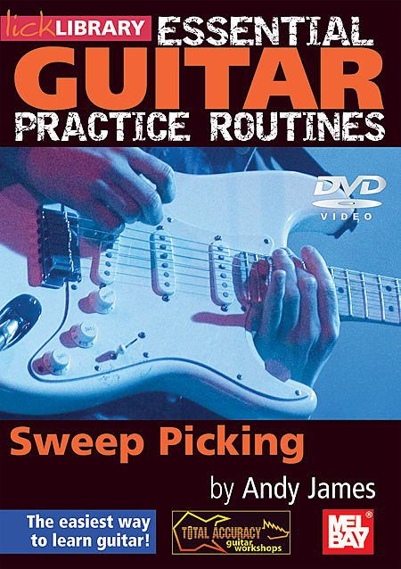 Lick Library Essential Guitar Practice Routines Sweep Picking