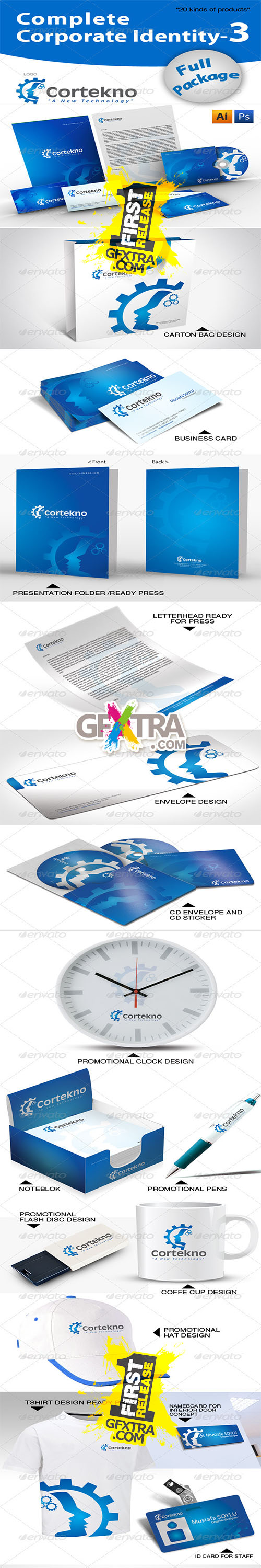 GraphicRiver - Complete Corporate Identity + 20 Free Mockup