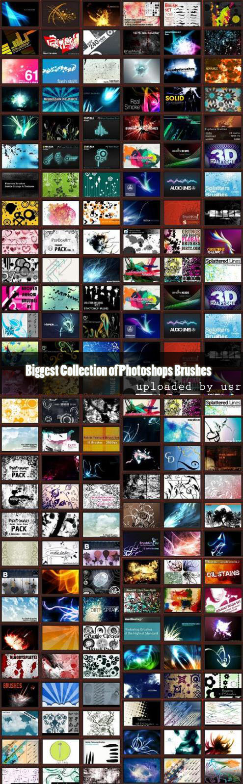 biggest Collection of photoshops Brushes