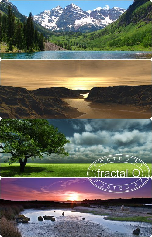 50 Stunning Landscapes Dual Screen Wallpapers (2560x1024) | 85.79MB | HF-FS-DF