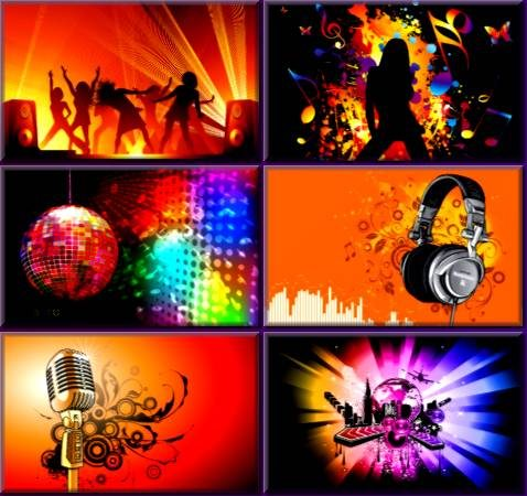 Colorful Vector Art Music Wallpapers