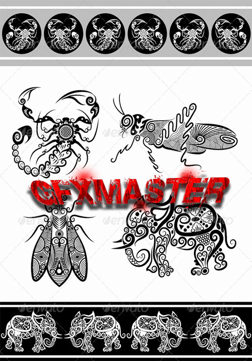 GraphicRiver - Animal ornaments (series 2)