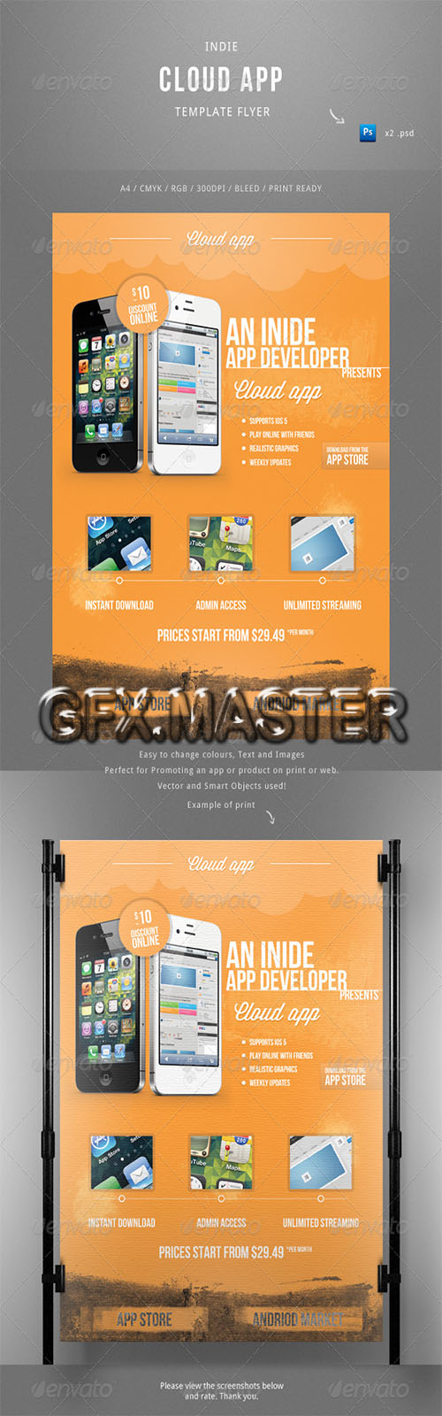 GraphicRiver - Indie Cloud App Flyer Template