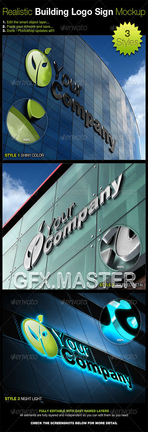 GraphicRiver - Realistic Building Logo Sign Mock-Up