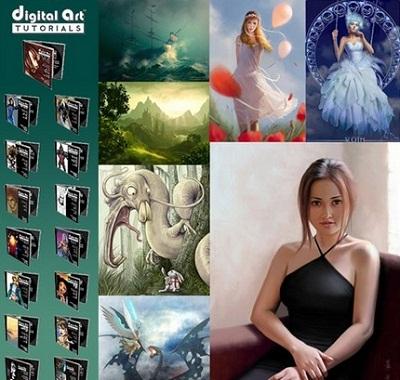 Digital Art Tutorials 10 DVD Set - Painting in Adobe Photoshop