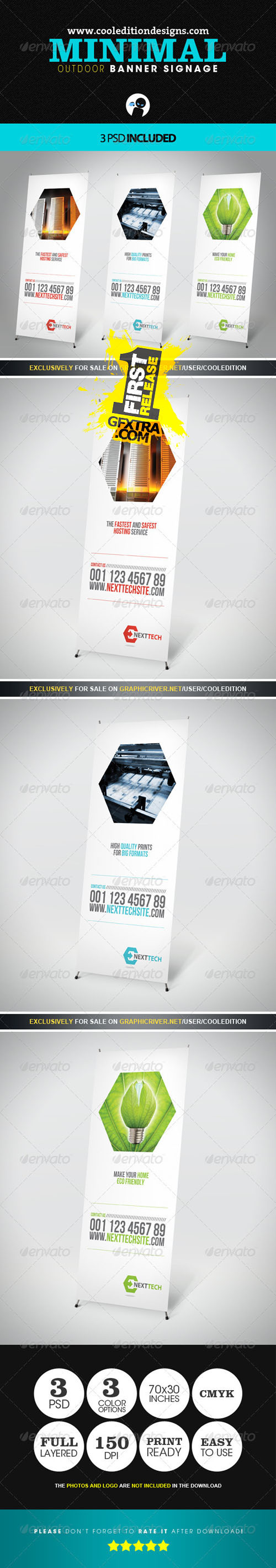 GraphicRiver: Minimal Outdoor Banner Signage