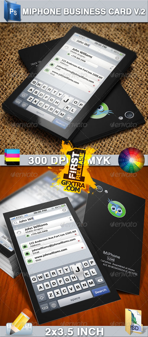 GraphicRiver: Miphone Business Card V2