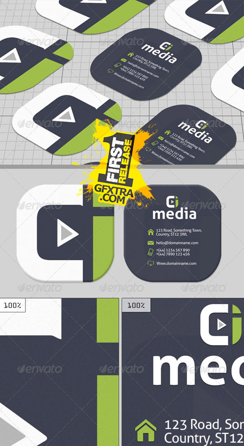 GraphicRiver: Media Creative Business Card