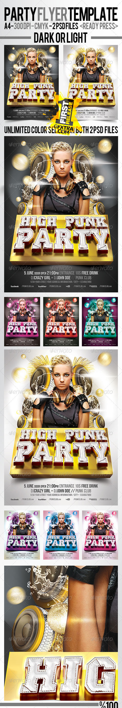 GraphicRiver: Punk Party Flyer Template