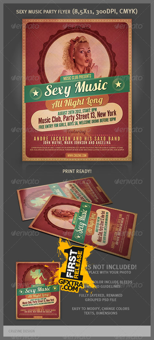 GraphicRiver: Sexy Music Party Flyer