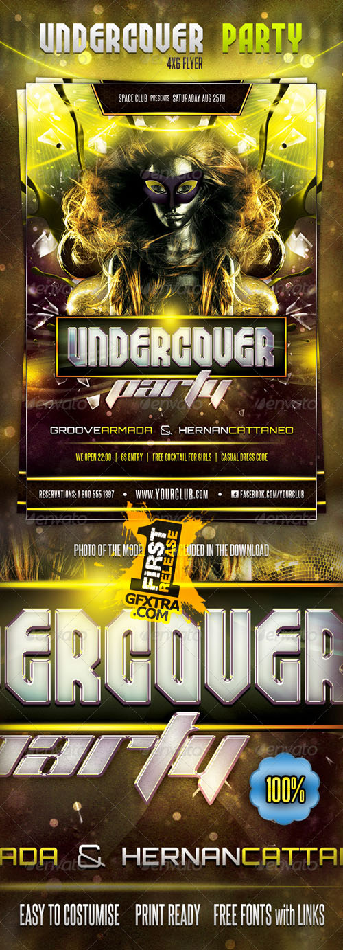 GraphicRiver: Undercover Party Flyer