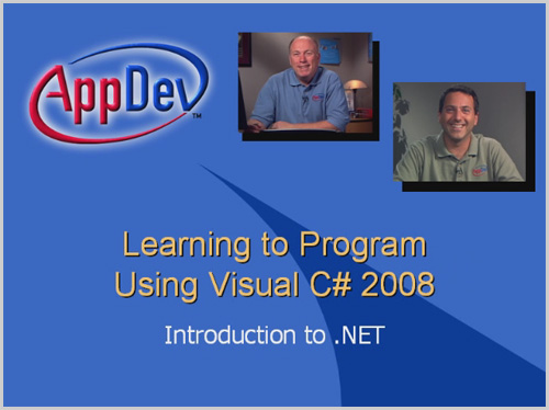 AppDev: Learning to Program Using Visual C# 2008