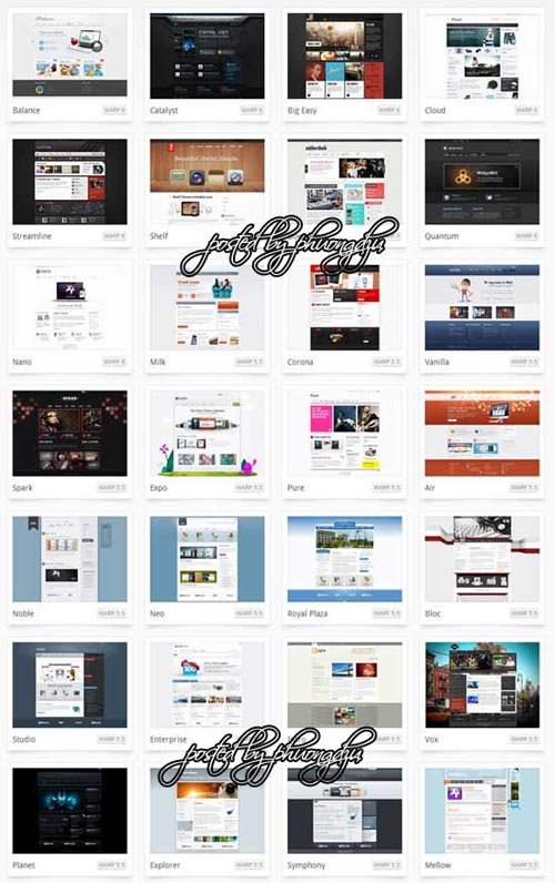 YooTheme WordPress Theme Updated Pack 2012 Warp 5.5