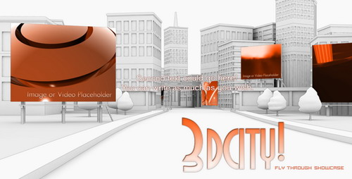 VideoHive 3d City animation Fly Through Showcase After Effects Project